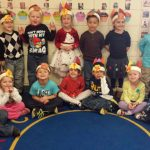 Preschool class Thanksgiving portrait.